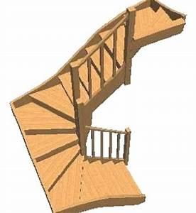 Escalier 3 4 Tournant : c escalier 3 4 tournant en h tre lamel c 3 4 tournant ~ Dailycaller-alerts.com Idées de Décoration