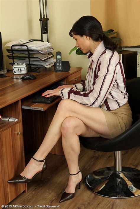Mona B Strip Naked In The Office Milf Fox