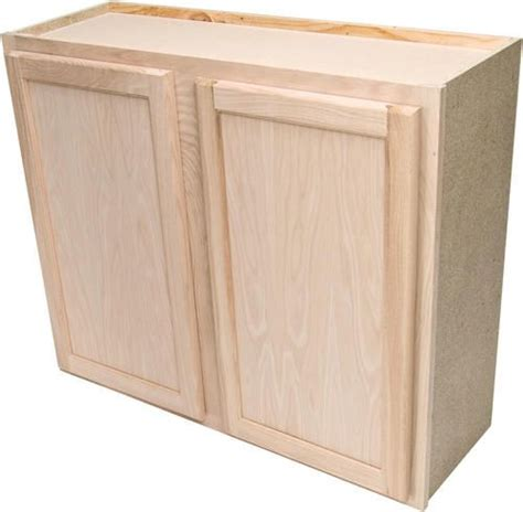 """Quality One 36"""" X 30"""" Unfinished Oak Standard Wall Cabinet"""
