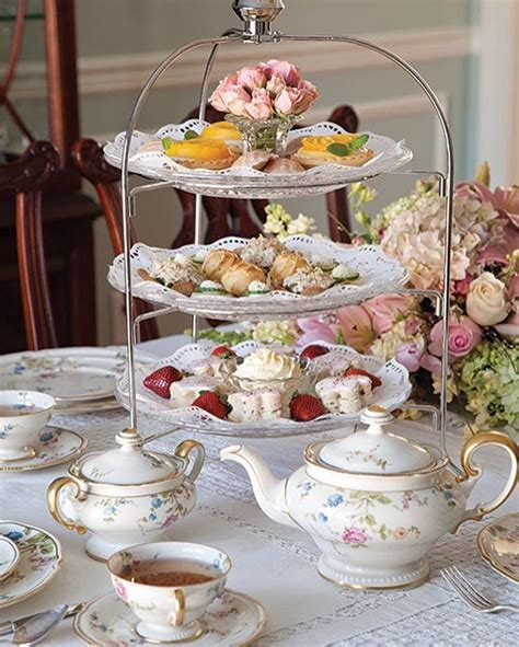 58 english high tea table setting 60th birthday party
