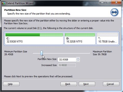 how to easily extend c drive in windows 7 without formatting