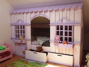Lit Cabane Avec Tiroir : lit cabane mini house pour fille et gar on abramacabane ~ Teatrodelosmanantiales.com Idées de Décoration