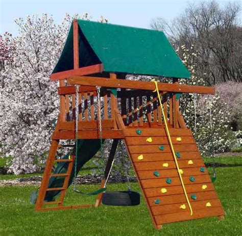 Backyard Climbing Structures Turn The Backyard Into And