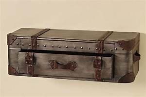 Wandboard Mit Schublade : wandregal koffer mit schublade braun regal wand wandkonsole sideboard shabby metall nostalgie ~ Orissabook.com Haus und Dekorationen