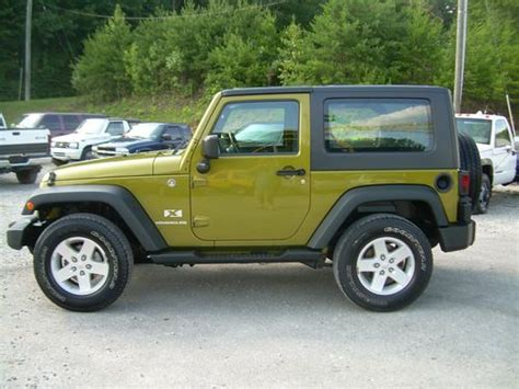 jeep wrangler 2 door hardtop purchase used 2008 jeep wrangler x sport 4x4 2 door