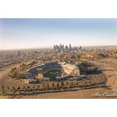 Dodger stadium Los Angeles LA Aerial Image. Www.instagram
