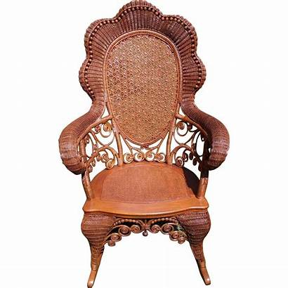 Wicker Caned Victorian Chair Rocking Antique Rubylane