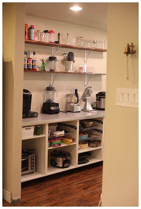Adding Open Shelving in the Pantry   Run To Radiance