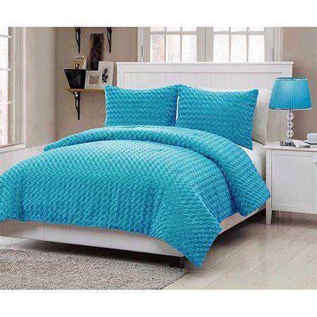 vcny home rose fur bedding comforter set walmartcom