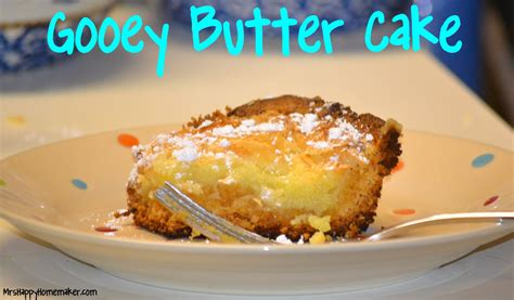 gooey butter cake  happy homemaker