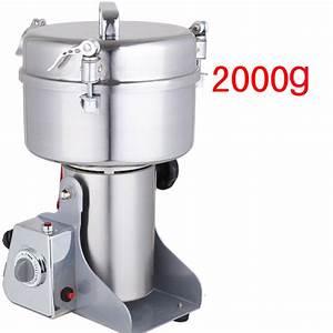 Stainless steel, herbs grinder, 2kg, ultrafine mill, home ...