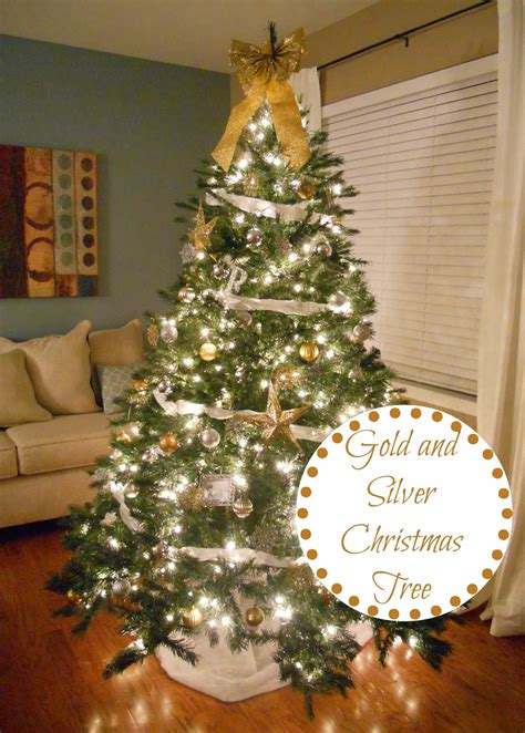 decorating cents gold and silver christmas tree