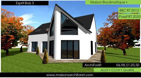 plan et photo de maisons avec combles amenages ou amenageables en ossature bois par architecte