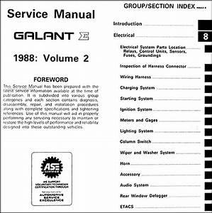 1998 Mitsubishi Galant Repair Shop Manual 2 Volume Set