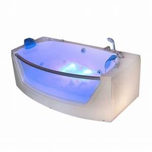 Whirlpool Badewanne Kaufen : whirlpool badewanne mit 15 massage d sen glas led heizung ~ Watch28wear.com Haus und Dekorationen