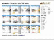 Kalender 2017 NRW zum Ausdrucken KALENDER 2017