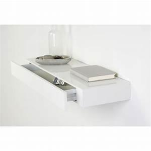 Etagere A Tiroir : etag re tiroir blanc l 48 x p 25 cm mm leroy merlin ~ Teatrodelosmanantiales.com Idées de Décoration