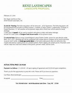 landscaping contract examples pertaminico With snow plowing proposal letter
