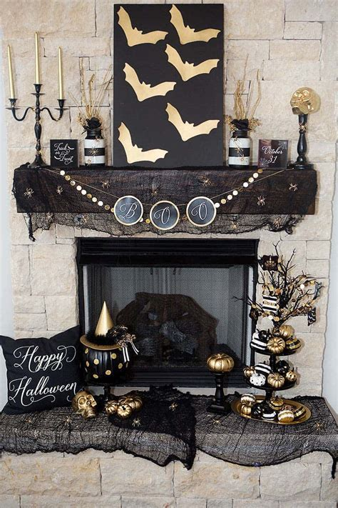 spooktacular halloween mantel decorating ideas