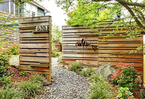 garden fencing ideas modern spectacular inexpensive privacy fence ideas decorating ideas gallery in landscape modern design