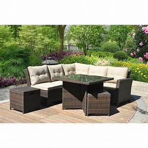 Ragan meadow 7 piece outdoor sectional sofa set seats 5 for 5 piece grey sectional sofa