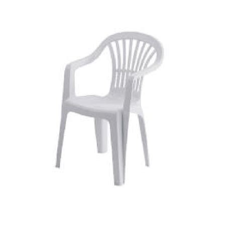 buy white plastic garden chair