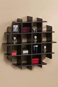 Clever design wooden wall shelf - Home Design Ideas