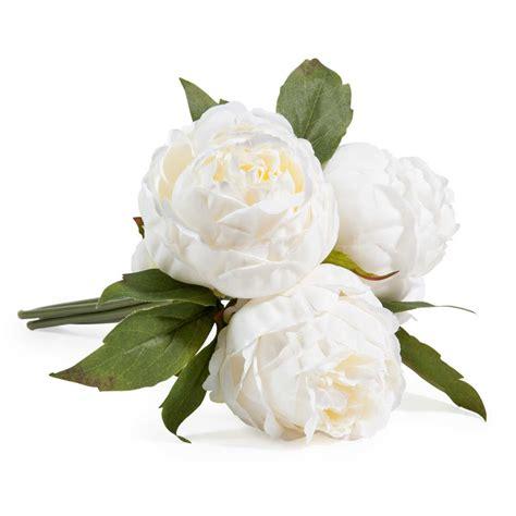 deco pour chambre ado fille bouquet de fleurs artificielles 3 pivoines blanches