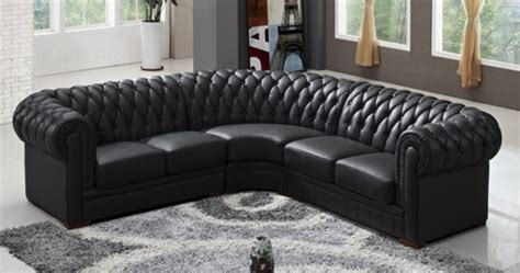 canap chesterfield cuir noir deco in canape d angle capitonne cuir chesterfield