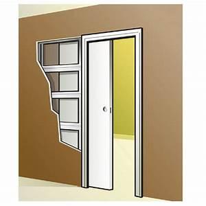 porte coulissante 63 cm castorama le bois chez vous With porte de garage et porte interieur a galandage