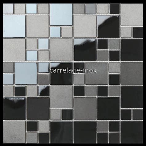 mosaique credence cuisine mosaique en inox noir mat et miroir crédence cuisine oken