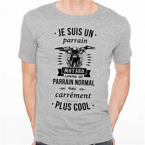 Tee Shirt Homme Humour : t shirt homme gris je suis un parrain motard ketshooop ~ Melissatoandfro.com Idées de Décoration