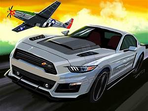 2016 P-51 Mustang – dtcreations automotive art | Muscle cars, Volkswagen touran, Mustang