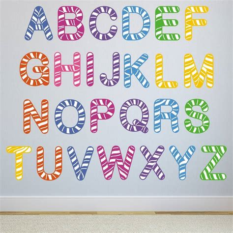 wall letter stickers stripe alphabet wall stickers by mirrorin