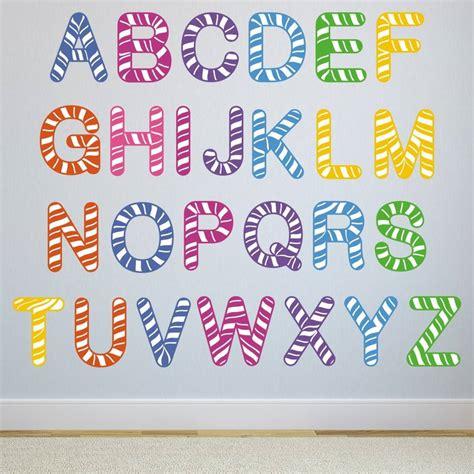 Stripe Alphabet Wall Stickers By Mirrorin