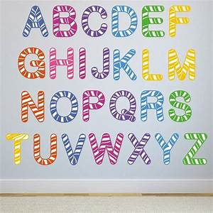 stripe alphabet wall stickers by mirrorin With wall stickers alphabet letters