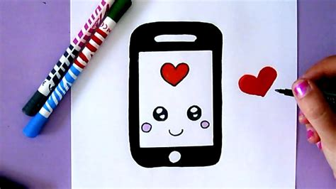 draw  cute iphone easy drawing youtube