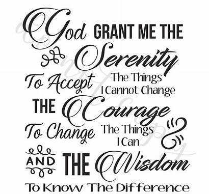 Serenity Prayer Printable Instant Coloring Bookmark
