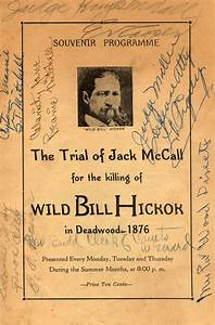 Trial of Jack McCall, Killing of Wild Bill, Signed Vintage