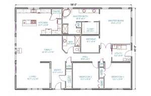 4 bedroom ranch floor plans 4 bedroom 3 bath ranch house plans 2017 house plans and home design ideas