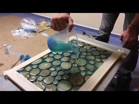 glowing table  crystals  epoxy resin svetyashchiysya stol