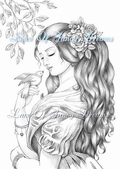 Coloring Pages Adults Pretty Printable Pdf Dove