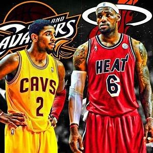Kyrie Irving (Cleveland Cavaliers) and Lebron James ...