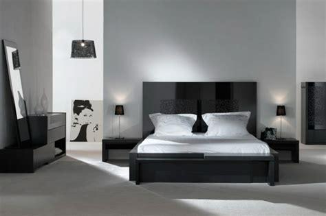 chambre a coucher noir déco noir et blanc chambre à coucher 25 exemples élégants
