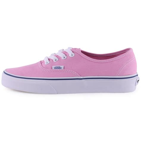 vans authentic womens trainers in pink