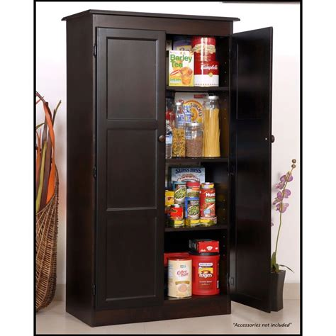stand alone pantry cabinet home depot concepts in wood multi use storage pantry in espresso