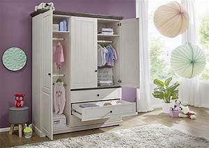 Kleiderschrank Weiß Grau : kleiderschrank 158x201x60cm 3 t ren 3 schubladen kiefer ~ A.2002-acura-tl-radio.info Haus und Dekorationen
