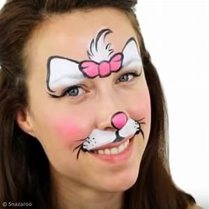 Modele Maquillage Carnaval Facile : tuto maquillage facile marie les aristochats disney id es conseils et tuto carnaval mardi gras ~ Melissatoandfro.com Idées de Décoration