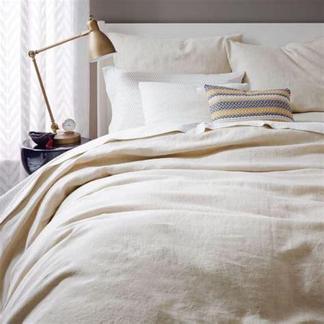Belgian Flax Linen Duvet Cover + Shams  Natural Flax