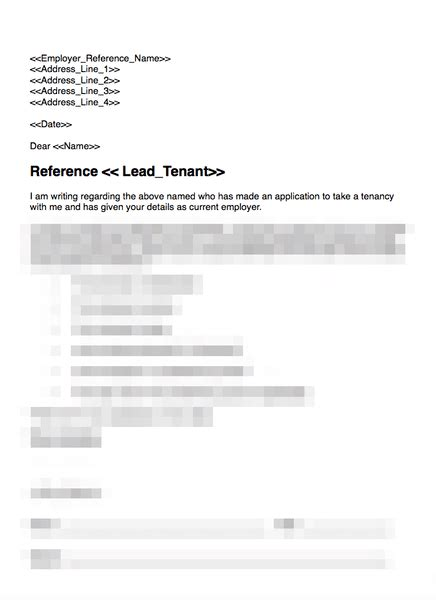 employer reference request grl landlord association